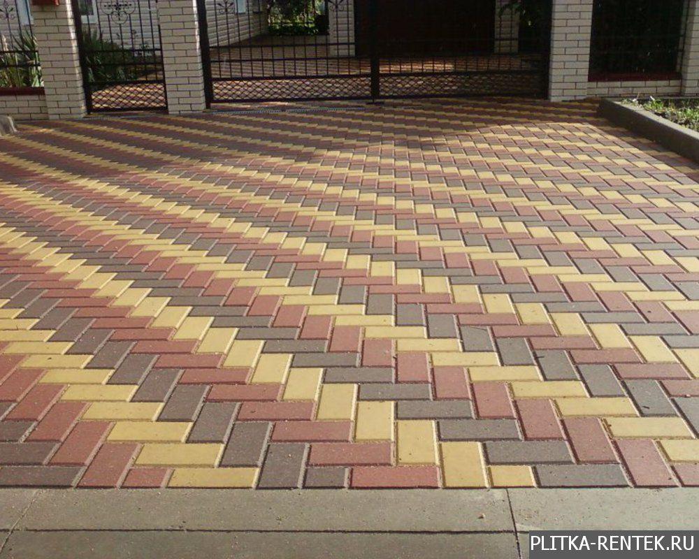 Плитка брусчатка тротуарная укладка