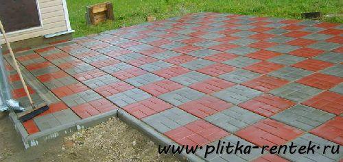 Положительные характеристики тротуарной плитки 400х400х50