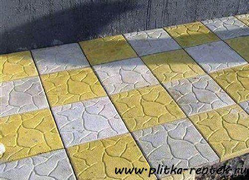 вес тротуарной плитки 300х300х30 мм влияет на простоту укладки